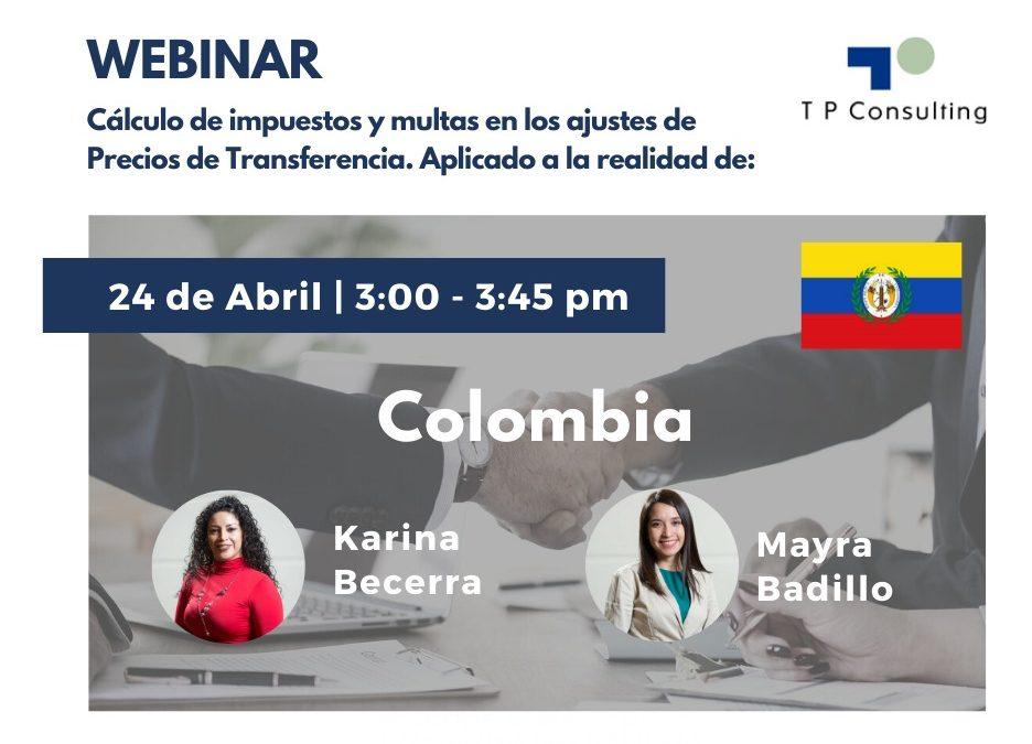 24-Abril | Webinar: «Cálculo de impuestos y multas en los ajustes de Precios de Transferencia»