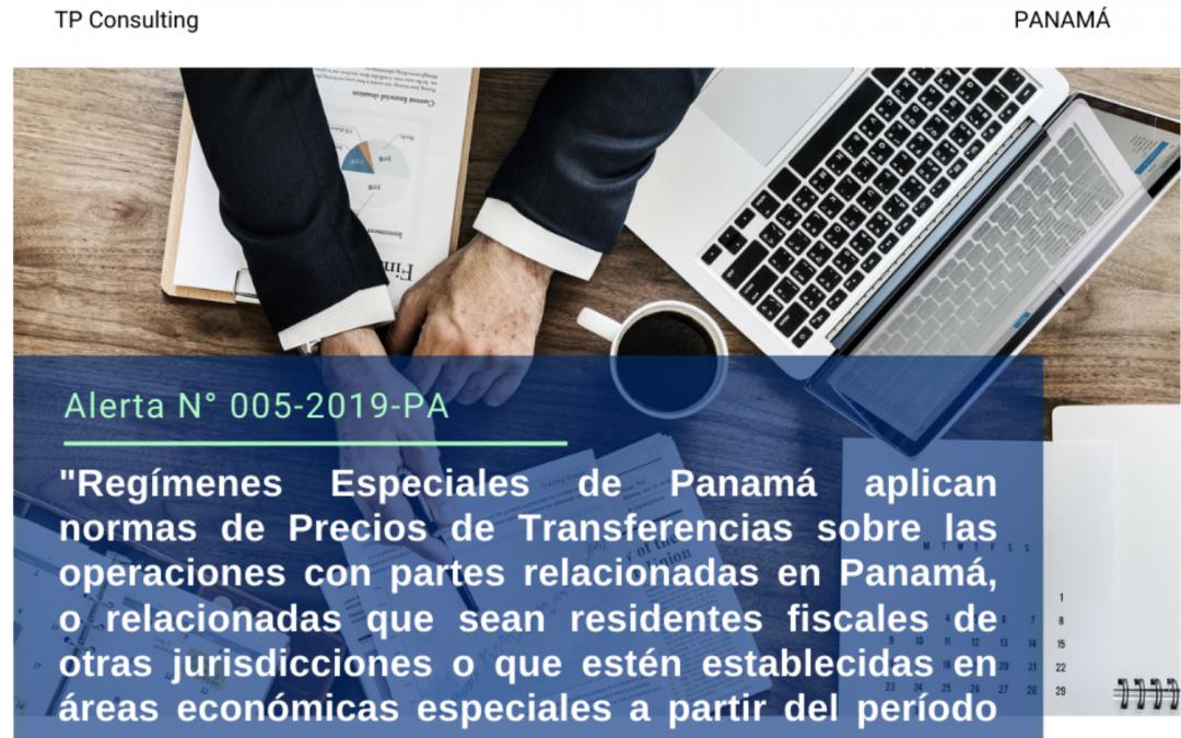 Alerta N° 005-2019-PA | Regímenes Especiales de Panamá aplican normas de Precios de Transferencia a partir del ejercicio fiscal 2019