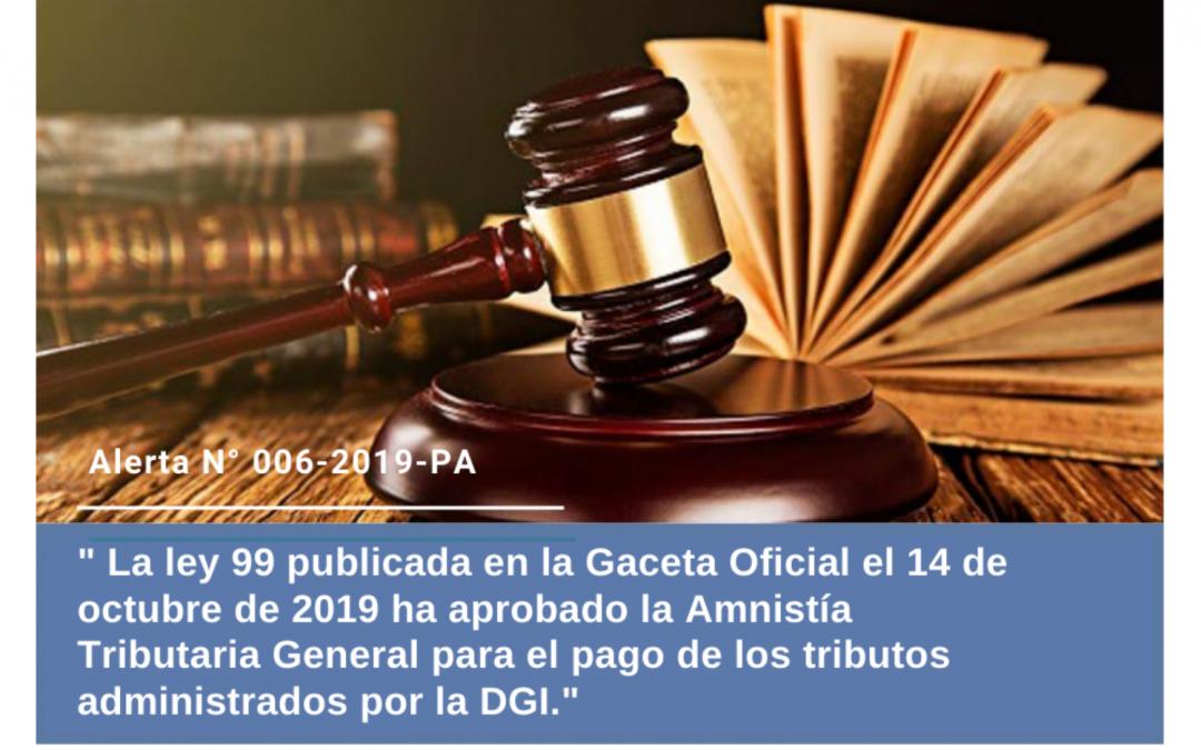 Alerta N° 006-2019-PA | Aprueban Amnistía Tributaria en Panamá para tributos administrados por la DGI