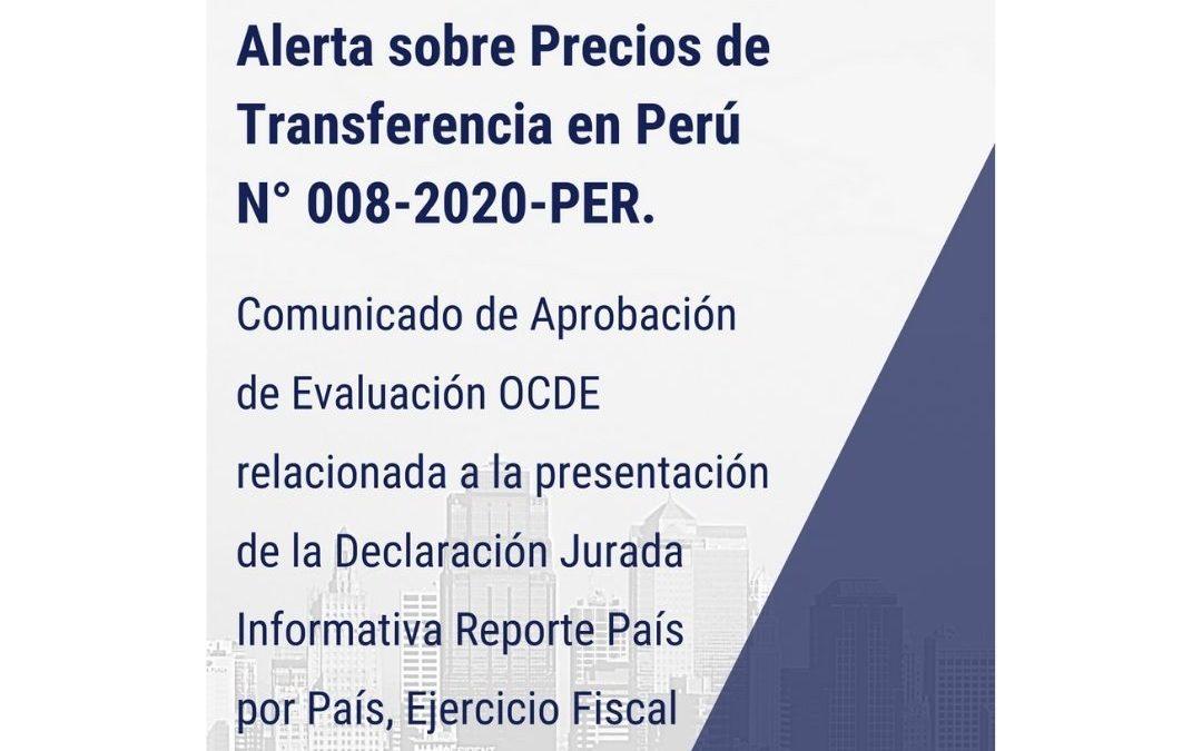Alerta sobre Precios de Transferencia en Perú N° 008-2020-PER.