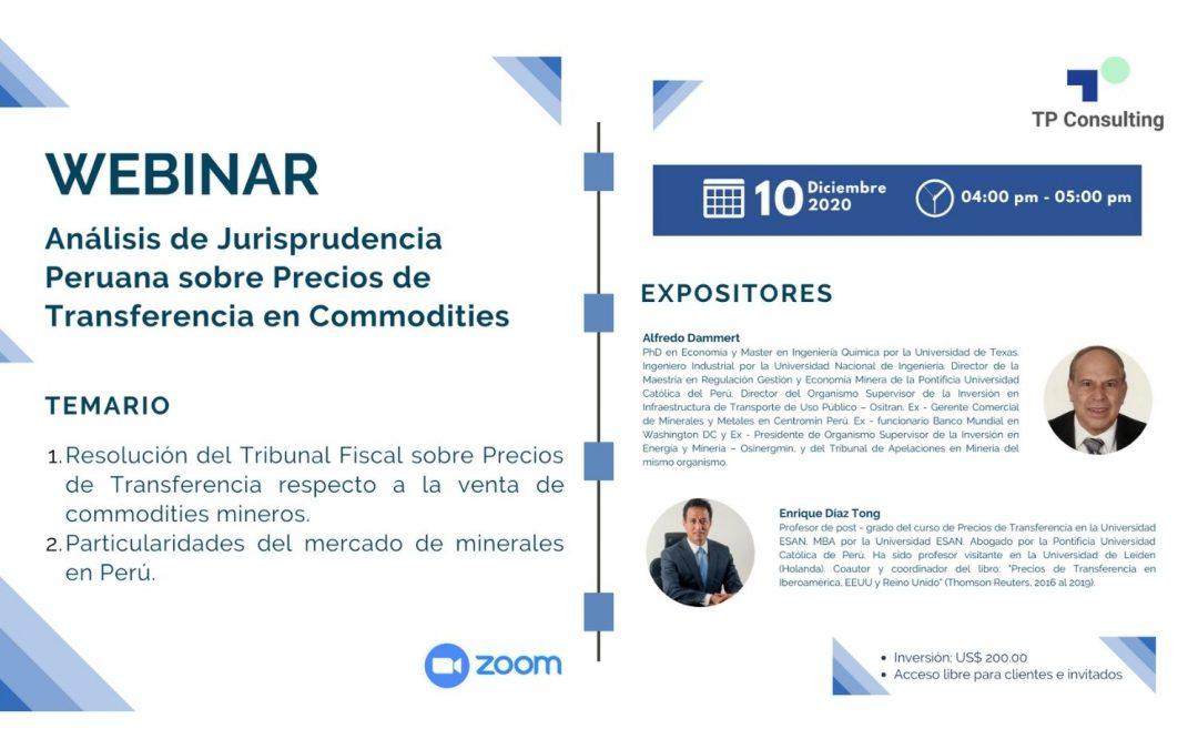 Analysis of Peruvian Jurisprudence on Transfer Pricing in Commodities