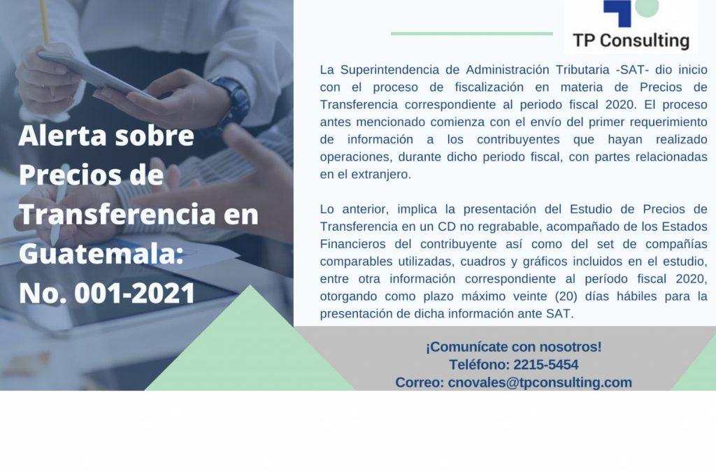 ALERTA NO. 001-2021-GT | Inicia proceso de fiscalización 2021