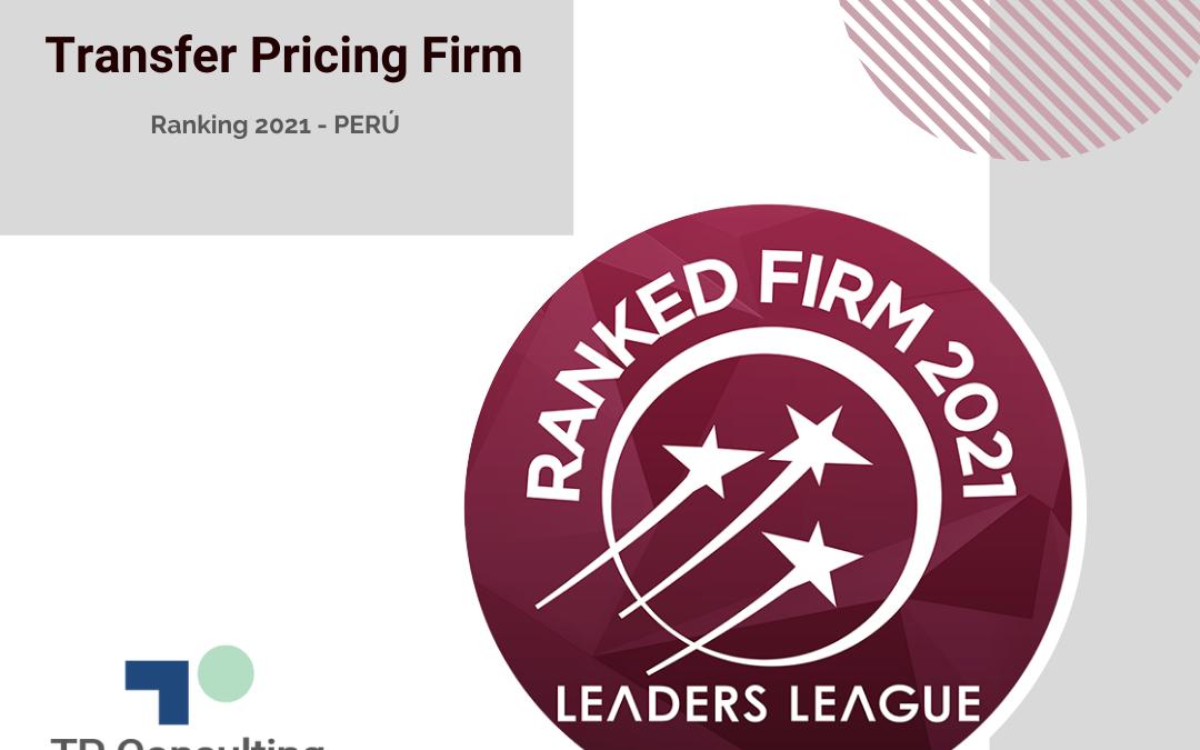TP Consulting en la categoría Excelente del Ranking 2021 de Leaders League