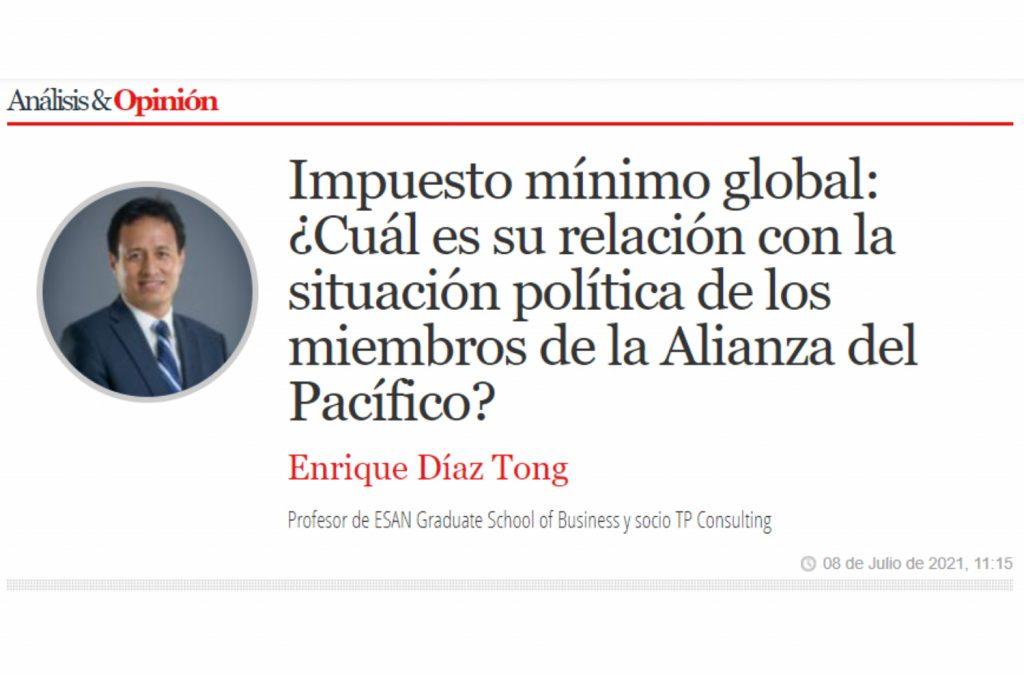 Publicación de Socio Enrique Díaz Tong en revista América Economía