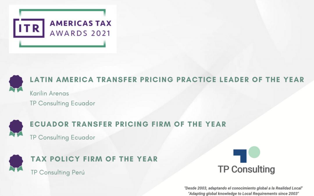 TP Consulting es premiado por la revista ITR (International Tax Review) en los Americas Tax Awards 2021